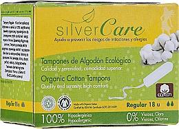 """Profumi e cosmetici Tamponi in cotone biologico """"Regular"""", 18 pezzi - Masmi Silver Care"""