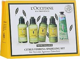 Profumi e cosmetici Set - L'Occitane Citrus Verbena Sparkling Set (show/gel/50ml + shm/50ml + cond/50ml + b/milk/50 ml + h/cr-gel/30 ml)