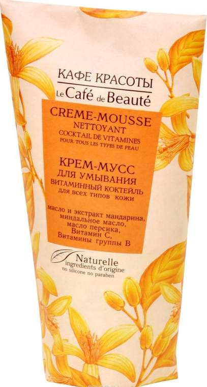"Mousse detergente ""Cocktail vitaminico"" per tutti i tipi di pelle - Le Cafe de Beaute Vitamin Cream-Mousse"