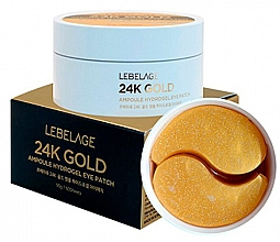 Profumi e cosmetici Patch occhi in idrogel - Lebelage 24K Gold Ampoule Hydrogel Eye Patch