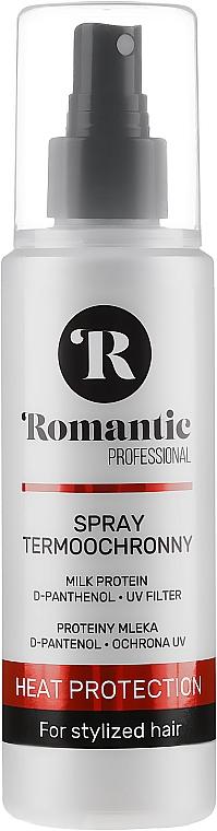 Spray termo-protettivo per lo styling dei capelli con proteine del latte, d-pantenolo e protezione UV - Romantic Professional Heat Protection