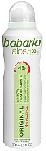Profumi e cosmetici Deodorante - Babaria Aloe Vera Original Alcohol-Free Deodorant Spray