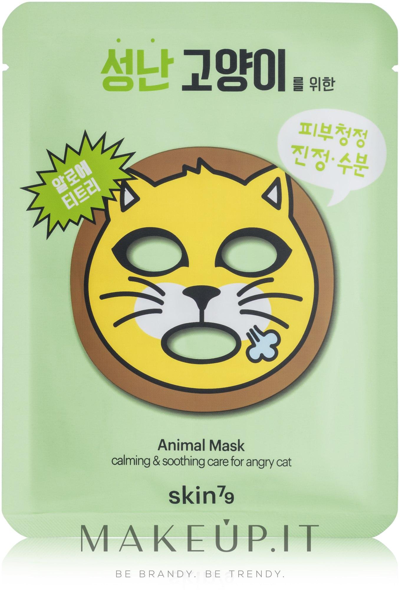 Maschera idratante in tessuto - Skin79 Animal Mask For Angry Cat — foto 23 g