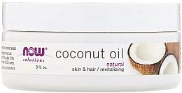 Profumi e cosmetici Olio di cocco - Now Foods Solutions Coconut Oil Natural Skin & Hair Revitalizing