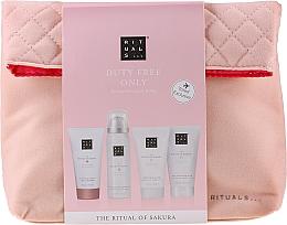 Profumi e cosmetici Set - The Ritual of Sakura Renewing Treat (b/cr/70ml + sh/g/50ml + shampoo/70ml + b/scrub/70ml + bag)