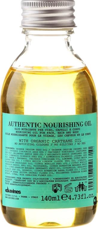 Olio nutriente viso, corpo, capelli - Davines Authentic — foto N1