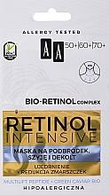 Profumi e cosmetici Maschera ringiovanente per mento, collo e décolleté - AA Retinol Intensive Bio-Retinol Complex 50+ 60+ 70+ Mask