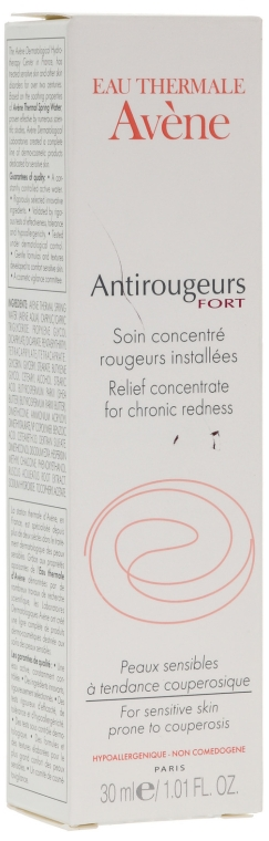 Crema contro la rosacea - Avene Soins Anti-Rougeurs Relief Concentrate For Chronic Readness
