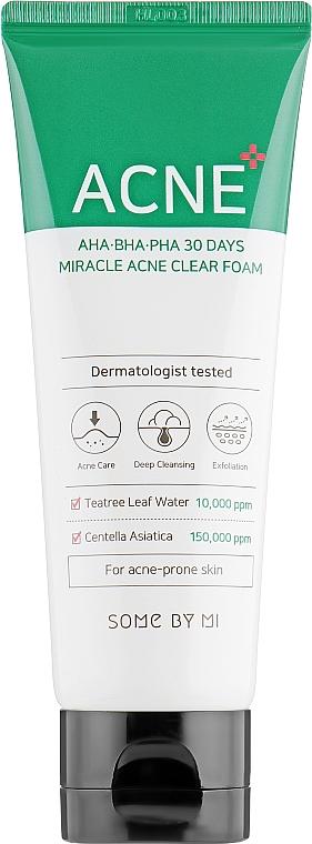 Schiuma detergente per pelle problematica - Some By Mi AHA BHA PHA 30 Days Miracle Acne Clear Foam