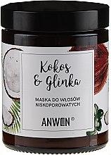 Profumi e cosmetici Maschera per capelli porosi - Anwen Low-Porous Hair Mask Coconut and Clay