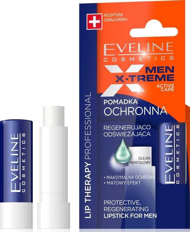 Balsamo labbra - Eveline Cosmetics Men X-Treme Active Care