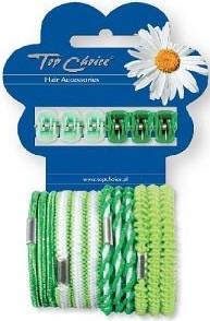 Set di clip e fasce elastiche per capelli 28144, 6 + 12 pezzi - Top Choice