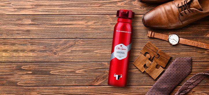 Ricevi in regalo un deodorante da uomo, acquistando prodotti Old Spice da 9 €