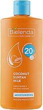 Profumi e cosmetici Crema protezione solare al latte di cocco SPF20 - Bielenda Bikini Moisturizing Suntan Milk Medium Protection