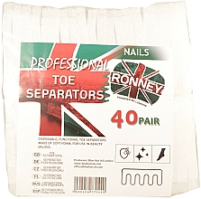 Profumi e cosmetici Separatori per pedicure, 80 pz - Ronney Professional Toe Separators