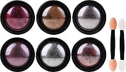Profumi e cosmetici Set per il design delle unghie - Deni Carte (powder/6pcs + applicator/6pcs)