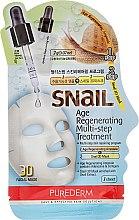 Profumi e cosmetici Maschera rigenerante viso - Purederm Snail Age Regenerating Multi Steps Treatment