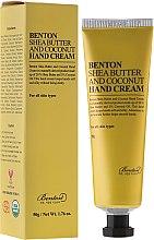 Profumi e cosmetici Crema mani con burro di karité e cocco - Benton Shea Butter and Coconut Hand Cream