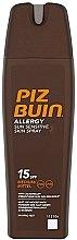 Profumi e cosmetici Spray protezione solare corpo - Piz Buin Allergy Sun Sensitive Skin Spray SPF15