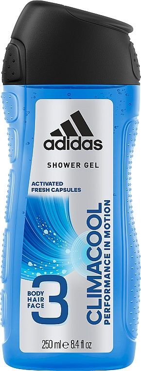 Gel per capelli, corpo e viso - Adidas Climacool 3in1 Shower Gel Body&Hair&Face