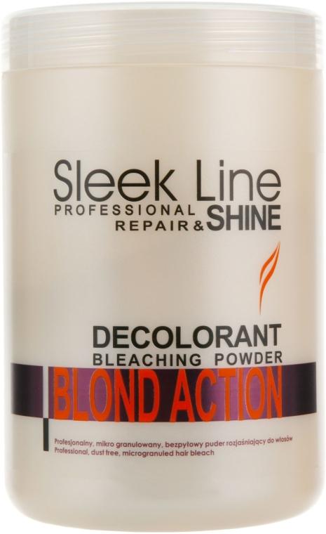 Polvere schiarente per capelli - Stapiz Sleek Line Repair & Shine Blond Action