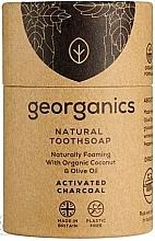 Profumi e cosmetici Sapone al carbone attivo per spazzolini da denti - Georganics Tooth Soap Stick Activated Charcoal