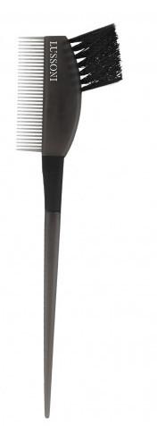 Pennello per tinta capelli, con pettine, nero - Lussoni