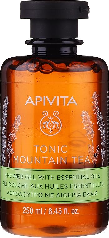 Gel doccia al tè di montagna con olii essenziali - Apivita Tonic Mountain Tea Shower Gel with Essential Oils