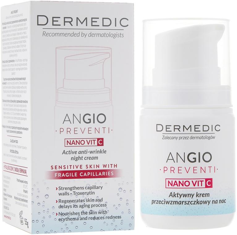 Crema notte anti-rughe, anti-arrossamento - Dermedic Angio Preventi Active Anti-Wrinkle Night