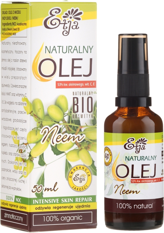 Olio naturale di semi di neem - Etja Natural Neem Oil