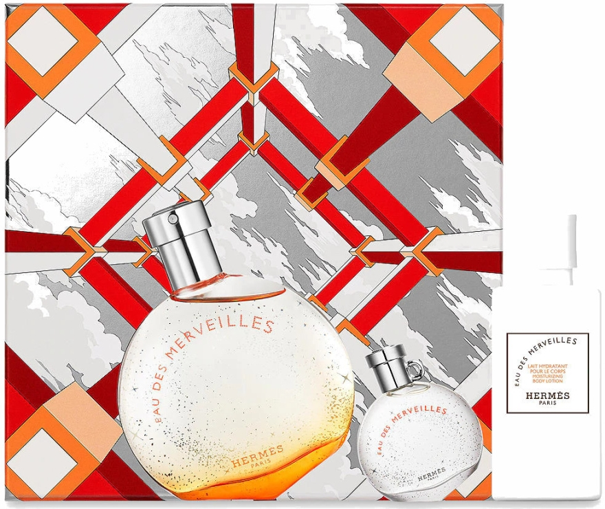 Hermes Eau Des Merveilles - Set (edt/50ml + edt/7.5ml + b/lot/40ml)
