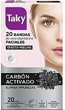 Profumi e cosmetici Strisce depilatorie viso con carbone attivo - Taky Activated Carbon Facial Wax Strips