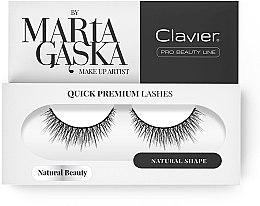 Profumi e cosmetici Ciglia finte - Clavier Quick Premium Lashes Natural Beauty 827