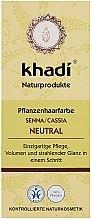 """Profumi e cosmetici Condizionante-maschera organica per capelli """"Neutral Henna"""" - Khadi Hair Conditioner"""