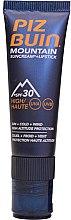 Profumi e cosmetici Rossetto-crema protezione solare per labbra - Piz Buin Mountain Suncream + Lipstick SPF30