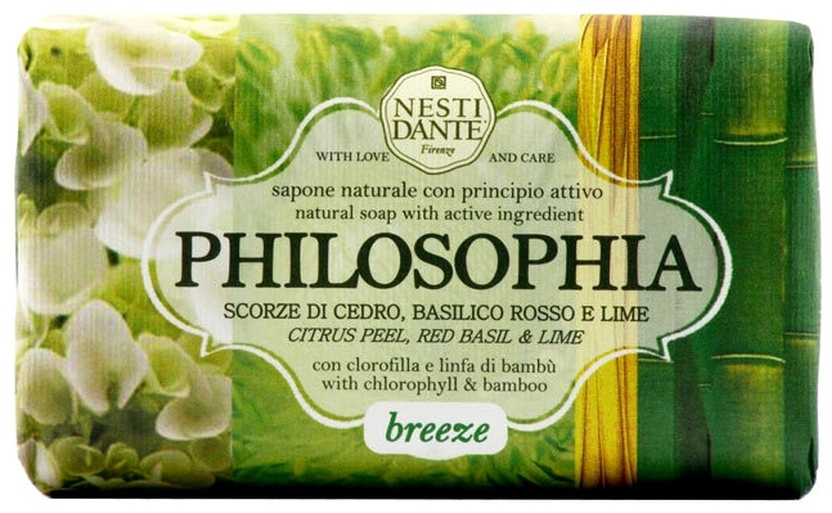 Sapone naturale con scorze di cedro, basilico rosso e lime - Nesti Dante Philosophia Breeze