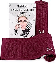 "Profumi e cosmetici Set asciugamani da viaggio, bordò ""MakeTravel"" - Makeup Face Towel Set"