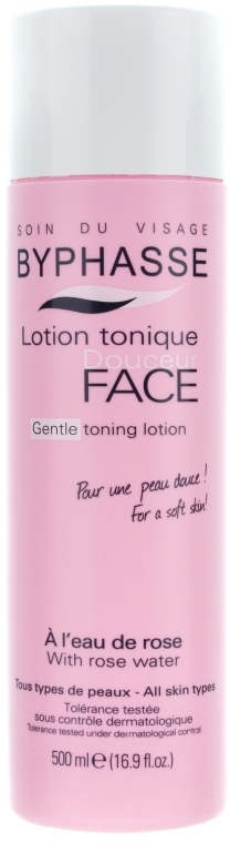 "Lozione-tonico per viso ""Acqua di rose"" - Byphasse Gentle Toning Lotion With Rosewater All Skin Types"