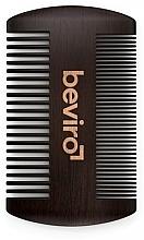 Profumi e cosmetici Spazzola per barba - Beviro Pear Wood Beard Comb