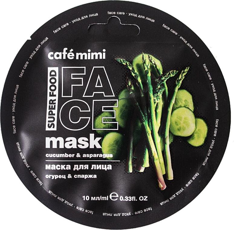 """Maschera viso """"Cetriolo e Asparagi"""" - Cafe Mimi Face Mask"""