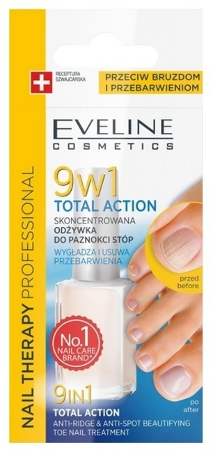 Smalto terapeutico 9in1 per unghie - Eveline Cosmetics Nail Therapy Total Action 9w1