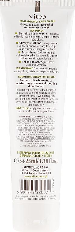 Crema mani levigante con olio d'oliva - Vitea Moisturizing Hand Cream Olive Oil — foto N2