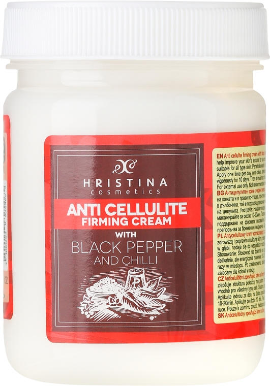 Crema anticellulite, con pepe nero - Hristina Cosmetics Anti Cellulite Firming Cream
