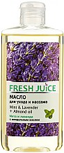 """Profumi e cosmetici Olio per la cura e il massaggio """"Menta e lavanda + olio di mandorle"""" - Fresh Juice Energy Mint&Lavender+Almond Oil"""