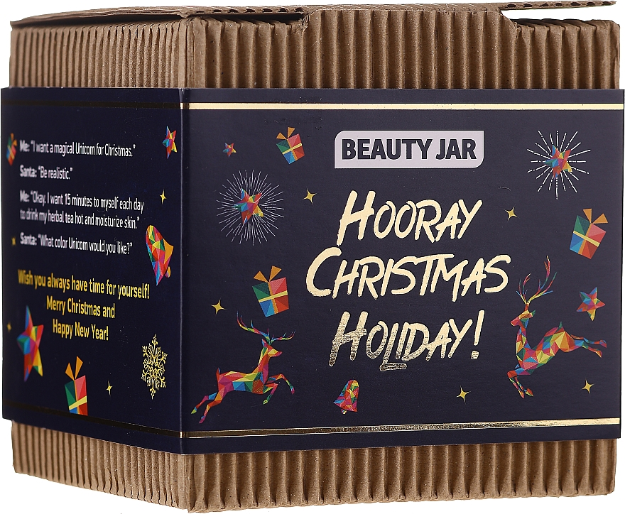 Set - Beauty Jar Hooray Christmas Holiday (scr/130g + soap/90g)