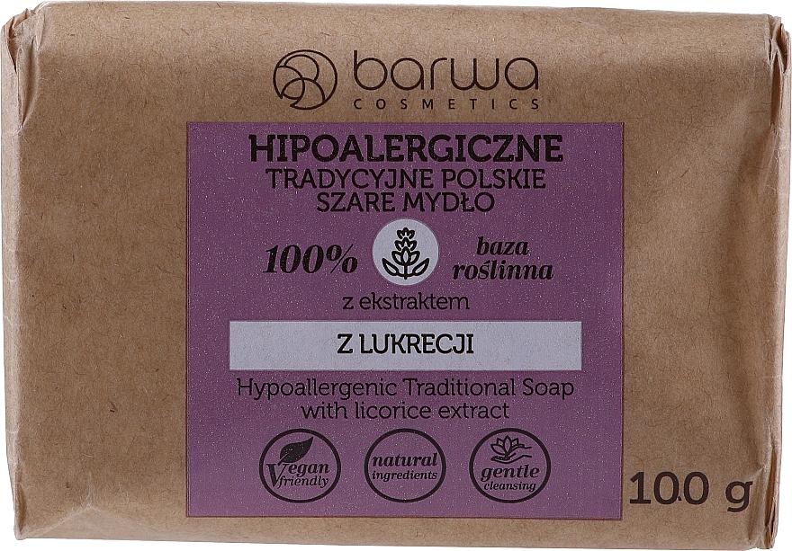 Sapone grigio ippoalergenico con estratto di liquirizia - Barwa Hypoallergenic Traditional Soap With Licorice Extract