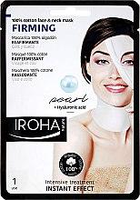 Profumi e cosmetici Maschera viso - Iroha Nature Firming Pearl 100% Cotton Face & Neck Mask