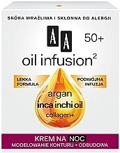 Crema da notte snellente anti-rughe - AA Oil Infusion Modeling Night Cream From Wrinkles 50+ — foto N1
