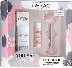 Profumi e cosmetici Set - Lierac Cica-Filler Set (f/cr/40ml + f/milk/30ml + roller/1pcs)