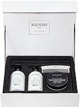 Profumi e cosmetici Set - Balmain Paris Hair Couture Silver Revitalizing Care Set (mask/200ml+h/couture/300ml+shampoo/300ml+brush)
